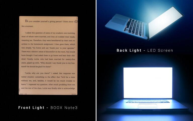 Podświetlenie ekranu w czytnikach ebooków