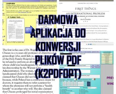 DARMOWA APLIKACJA DO KONWERSJI PLIKÓW PDF (K2PDFOPT)