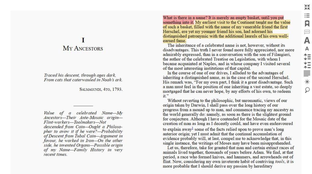 Podkreślanie fragmentów tekstu w aplikacji Icecream Ebook Reader