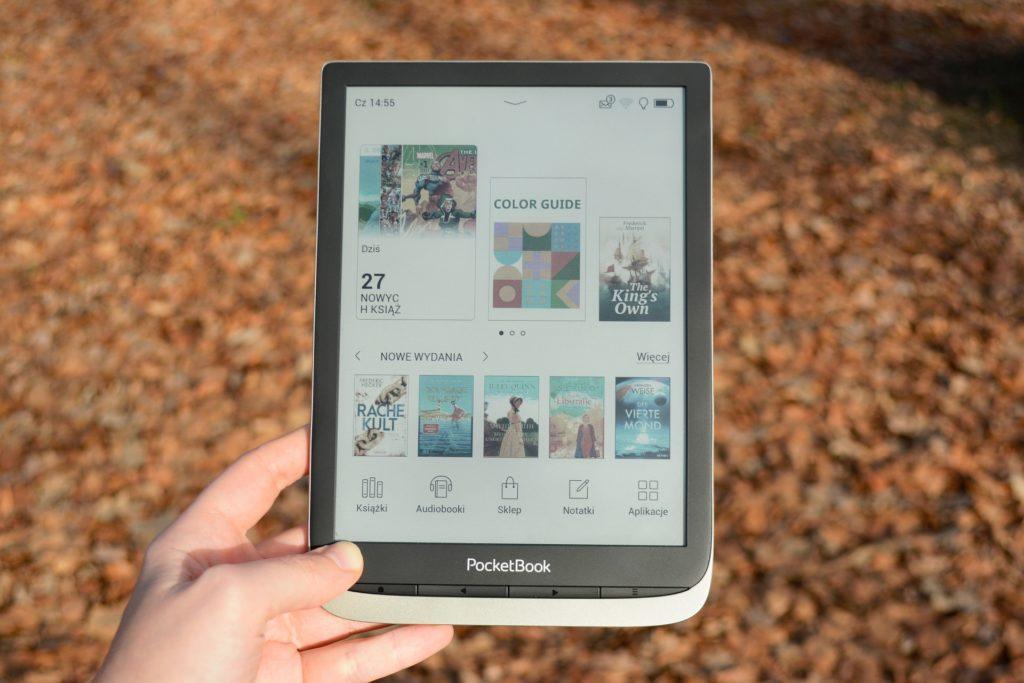 Menu główne na czytniku PocketBook InkPad Color