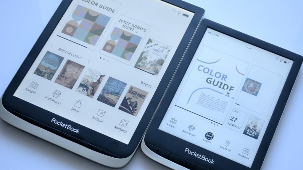 Menu główne [PocketBook Color vs PocketBook InkPad Color]