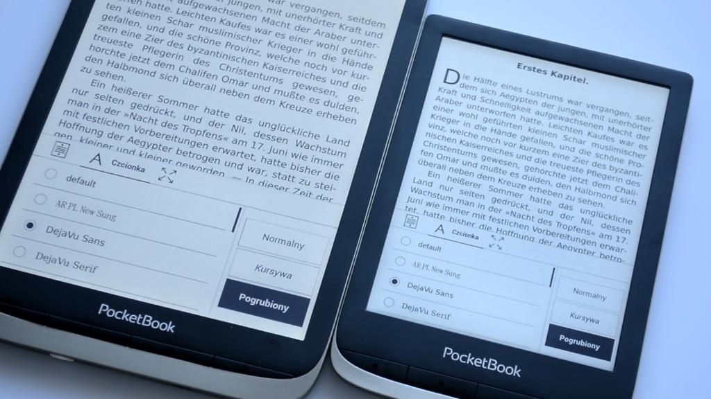 Zmiana czcionki na czytniku ebooków [PocketBook Color vs PocketBook InkPad Color]
