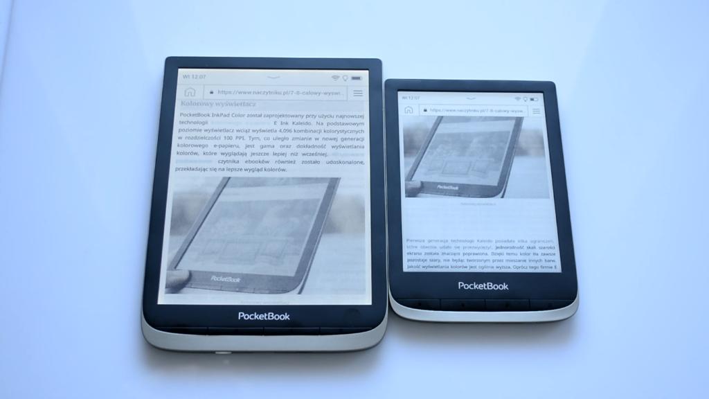 Przeglądanie Internetu [PocketBook Color vs PocketBook InkPad Color]