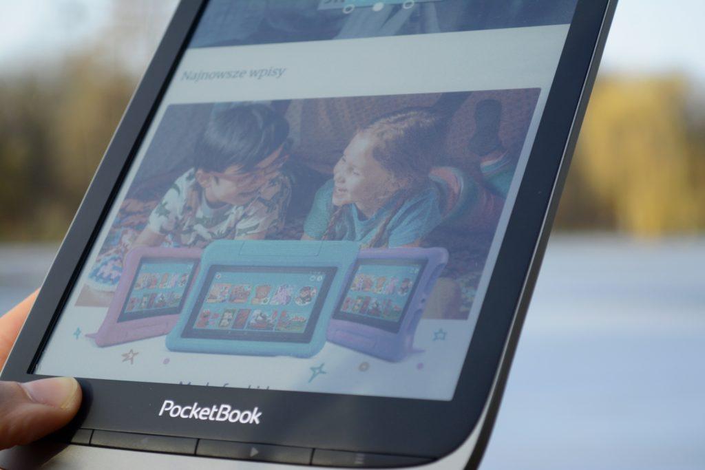 Kolorowy wyświetlacz czytnika PocketBook InkPad Color