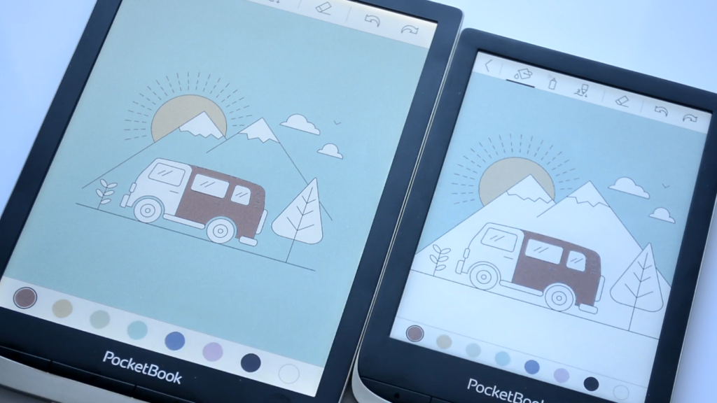 Wyświetlanie kolorów [PocketBook Color vs PocketBook InkPad Color]
