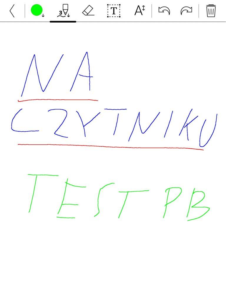 Robienie notatek na czytniku PocketBook InkPad Color