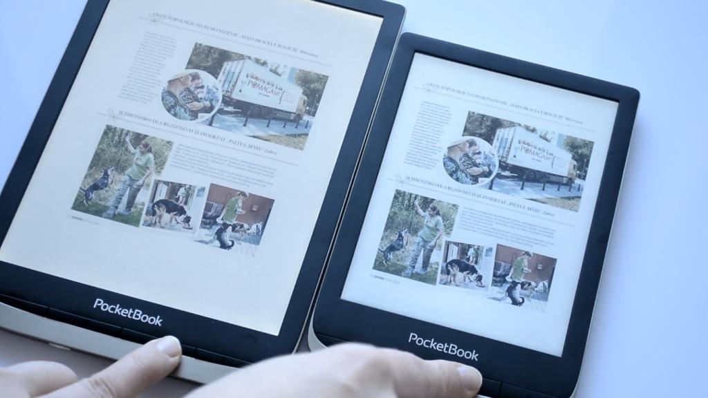 Prasa na czytniku ebooków [PocketBook Color vs PocketBook InkPad Color]