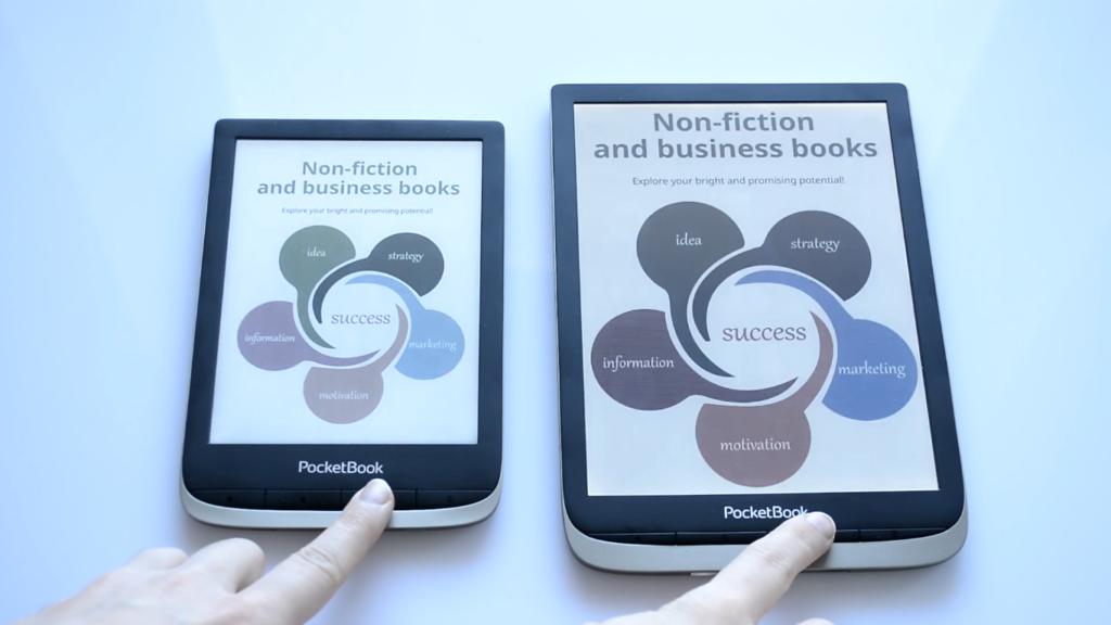 Wielkość czytników ebooków [PocketBook Color vs PocketBook InkPad Color]