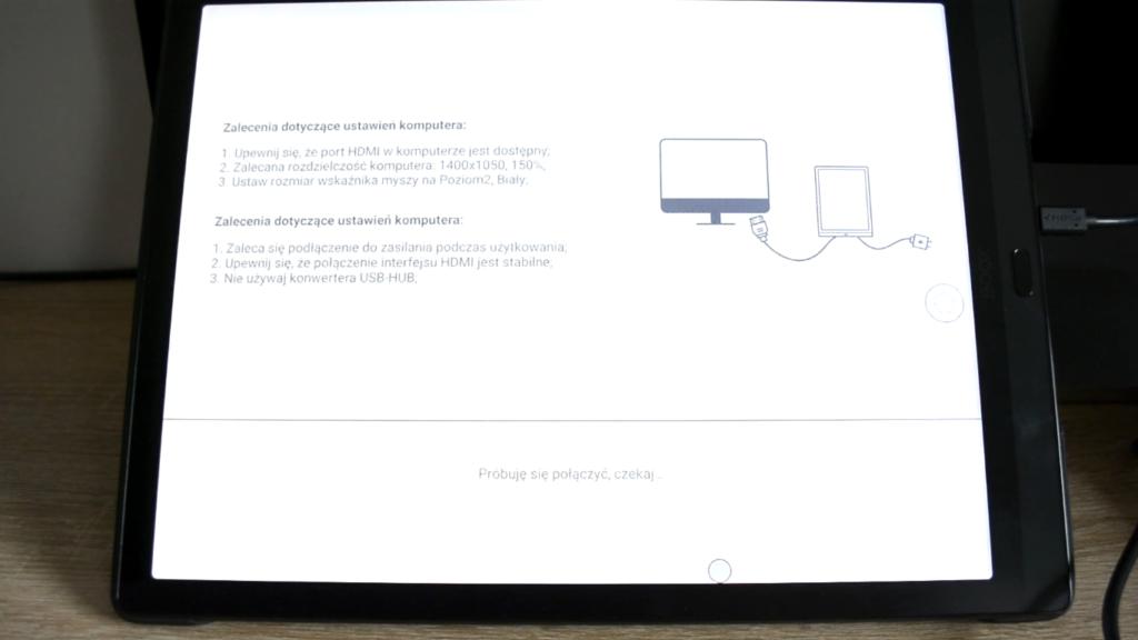 Podłączanie czytnika ebooków do komputera