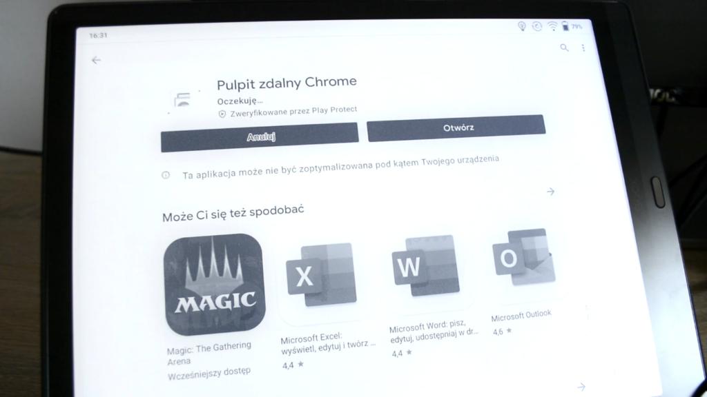 Instalacja rozszerzenia Chrome Remote Desktop