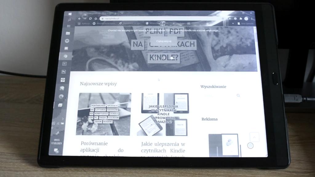 Przeglądanie Internetu na czytniku ebooków
