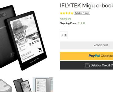Czytnik ebooków iFlytek Migu dostępny w sprzedaży