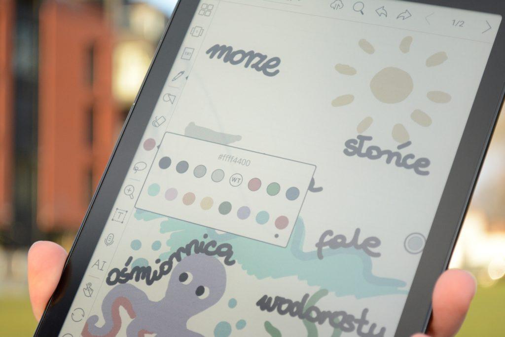 Rysowanie i robienie notatek na czytniku Onyx Boox Nova 3 Color