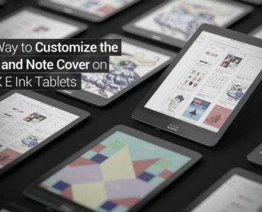 Jak personalizować okładki ebooków i notatek na Onyx Booxie?