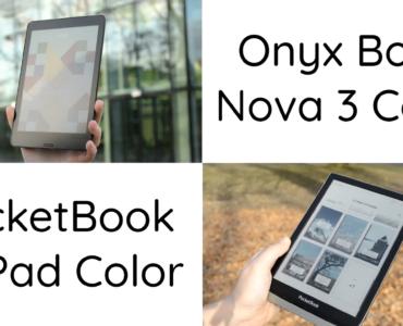 Porównanie kolorowych czytników ebooków [PocketBook InkPad Color vs. Onyx Boox Nova 3]