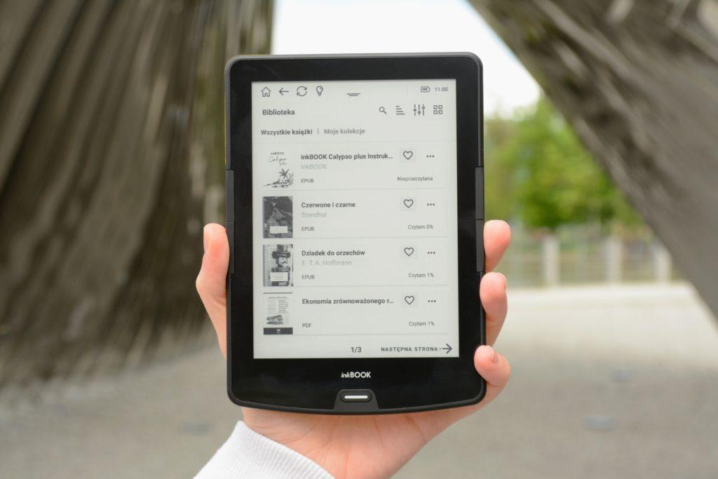 Główne menu na czytniku InkBOOK Calypso Plus
