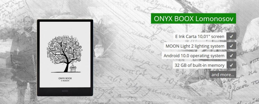 10-calowy czytnik ebooków na rosyjski rynek [Onyx Boox Lomonosov]