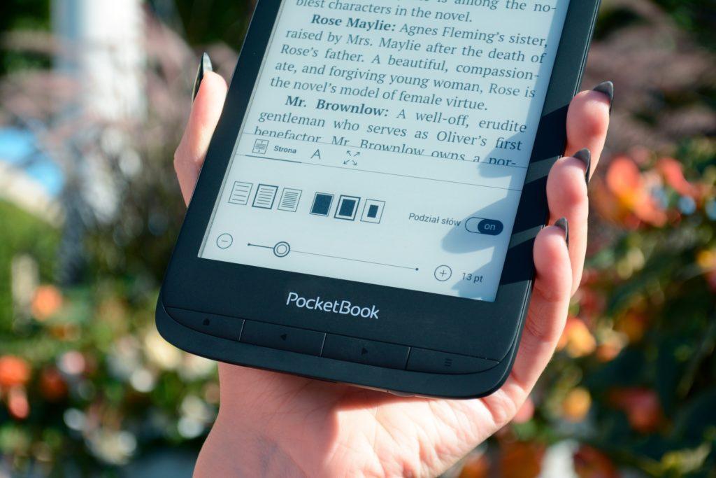 Regulacja parametrów wyświetlania tekstu na PocketBooku Touch Lux 5
