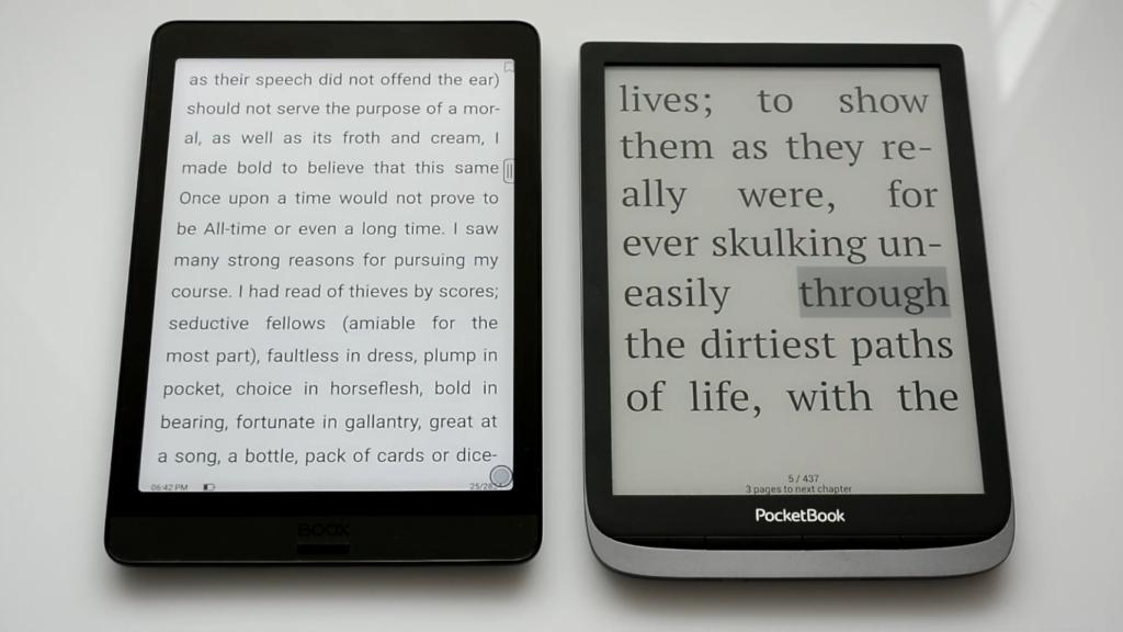 Rozmiary czytników ebooków Onyx Boox Nova 3 i PocketBook InkPad 3 Pro