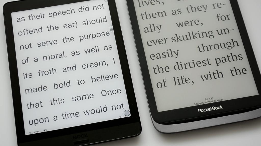 Parametry wyświetlania tekstu na czytnikach Onyx Boox Nova 3 i PocketBook InkPad 3 Pro