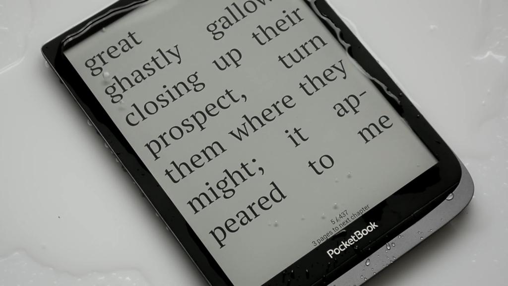 Wodoszczelność czytnika PocketBook InkPad 3 Pro