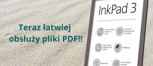 PocketBook InkPad 3 łatwiej obsłuży pliki pdf